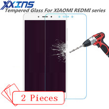 2PCS Tempered Glass For XIAOMI REDMI note 2 3 4 4X 4A 5X global version International pro prime Screen Protective cover case 9H