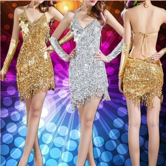 Latin dance  dress Special offer latin women costume salsa dresses fringe