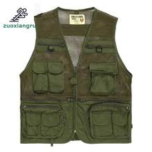 Zuoxiangru Men's Multi Pocket Tactical Vest Army Military Fans Combat Camouflage Cotton Mesh Photography Hiking Vest(China)