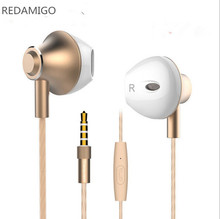 In-Ear Earphone Stereo Sound Metal Bass Headset Music Earpieces with Microphone for iPhone Xiaomi Samsung Sport M420