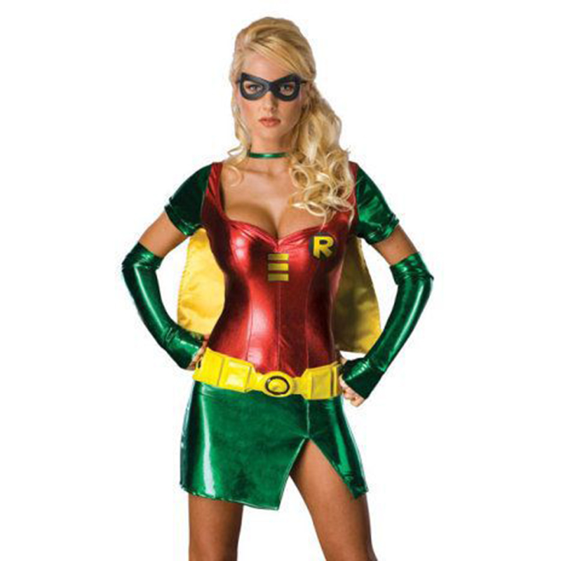 europe sexy lingerie game uniforms superman halloween cosplay costume adult women sexy superhero cosplay dresses - Cheap Halloween Dresses