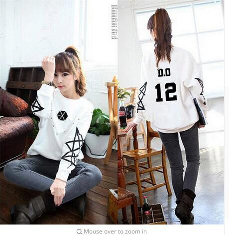 Hoodie kpop kpop exo exo clothing autumn long sleeve white men and Korean women coat clothing couple hooded shirt Outerwears