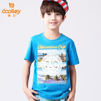 DOOLLEY 2017 New T-shirt For Boy Fashion Print Kids Cotton T-shirts Children Summer Short Sleeve Clothes Size 110-170 cm