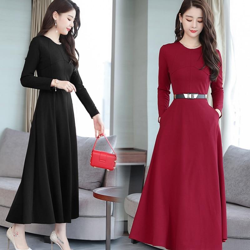 0506d499c Las-mujeres-elegantes-vestido-2018-nuevo-Oto-o-Invierno-negro-Midi-Vestidos -Bodycon-o-Cuello-vestido.jpg