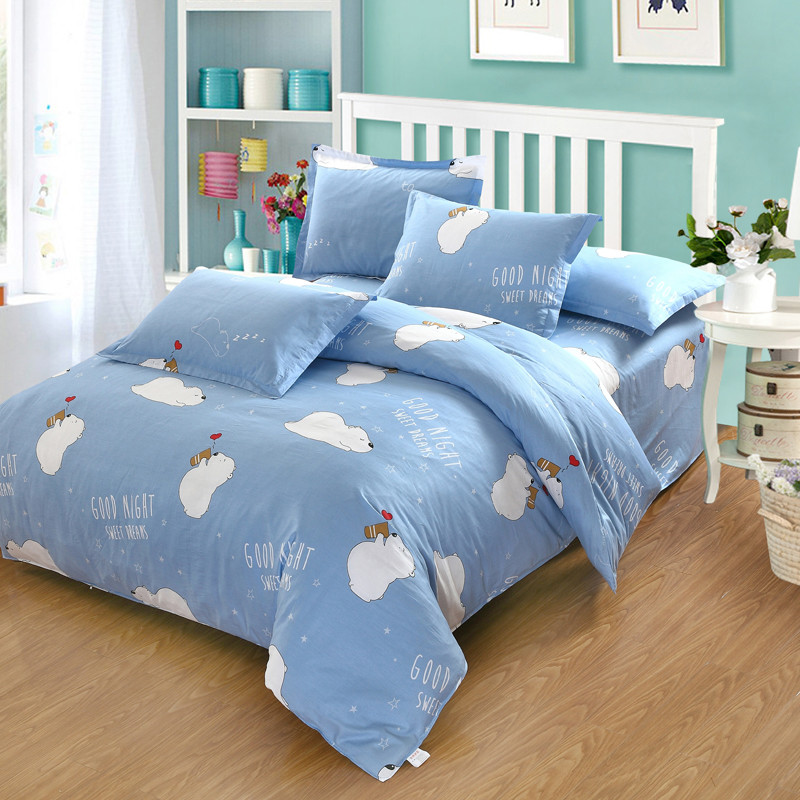 Home Textile 4Pcs Bedding Sets Girl boys Child Teen Bed Linen Polar Bear Blue Duvet Cover bed Sheet Pillow Case Best-sellingHome Textile 4Pcs Bedding Sets Girl boys Child Teen Bed Linen Polar Bear Blue Duvet Cover bed Sheet Pillow Case Best-selling