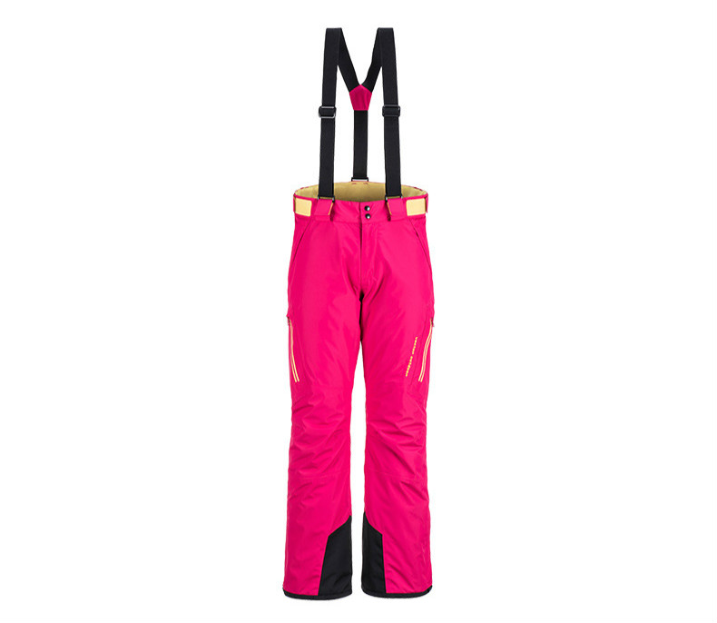 Vêtements de ski en plein air pantalons de ski d'escalade imperméables et chauds sangles et pantalons de dames peuvent être ajustés