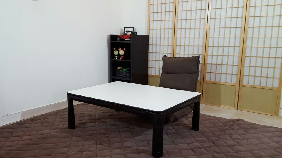 ... Legs Foldable Kotatsu Table Rectangle 105x75cm Living Room Furniture  Foot Warmer Heated Low Japanese Kotatsu Coffee ...