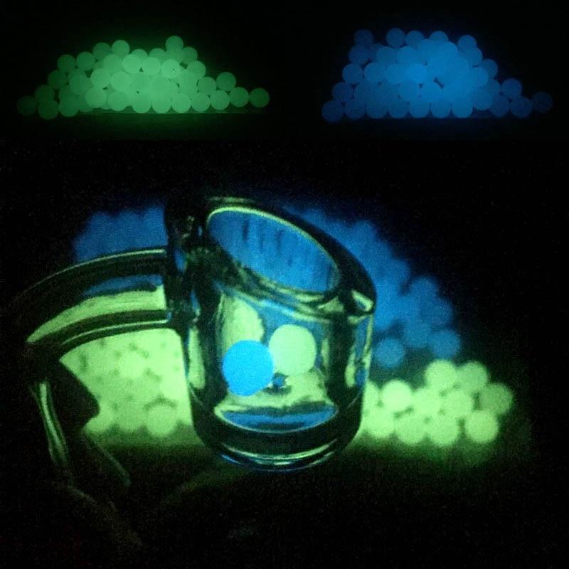 OD 6mm 8mm Clear Luminous Quartz Pearls Ball Luminous Glowing Blue Green Clear Quartz Pearl For Quartz Banger Nails Glass Bongs 1