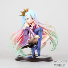 Anime Figure 15 CM NO GAME NO LIFE Shiro 1/7 Scale Complete PVC Action Figure Collectible Model Toys Brinquedos