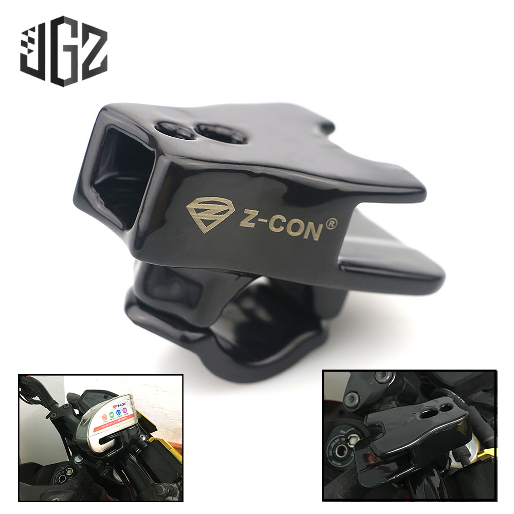 Motorcycle Bicycle Aluminum Outdoor Universal Disc Brake Lock Frame Fixed Security Anti-theft Locks Holder Bracket Accessories