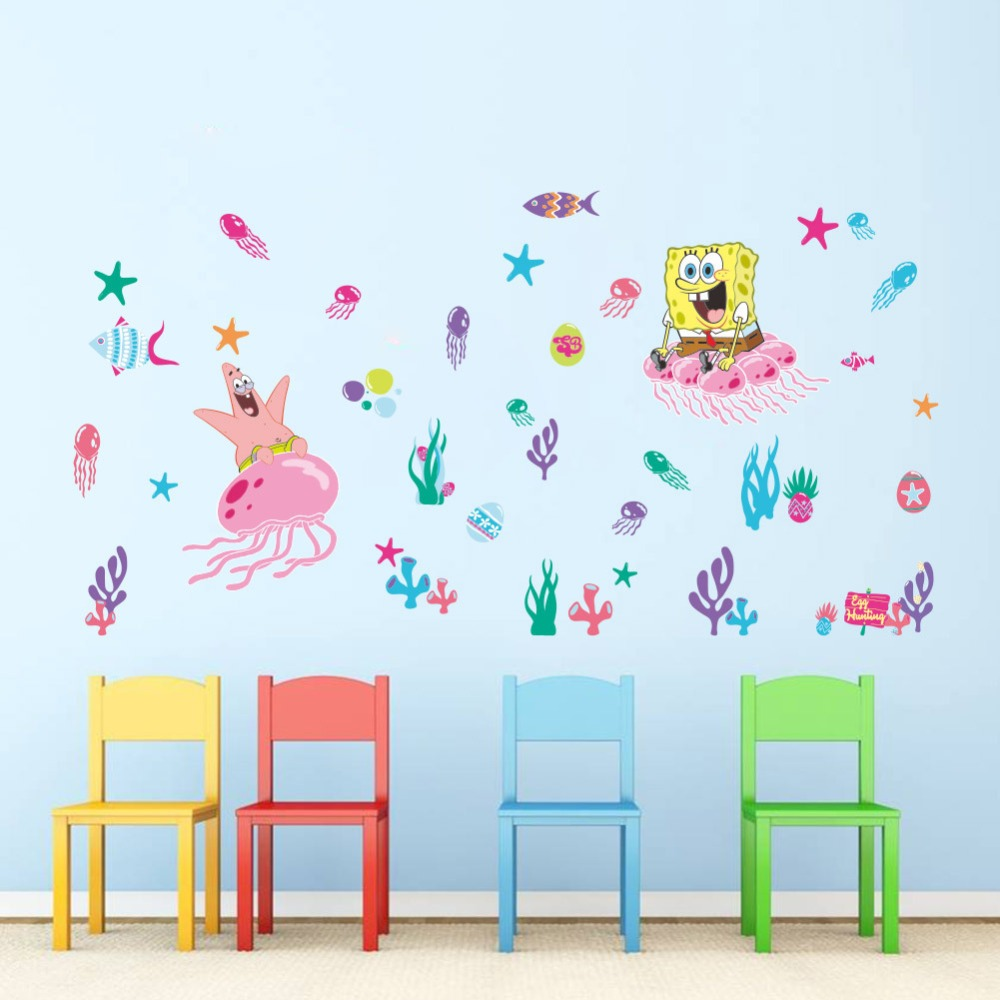 Animals Zoo Cartoon SpongeBob SquarePants Underwater World - Spongebob wall decals