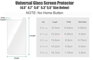 Image 5 - HD 2.5D 0.28mm Ultra Thin Universal Tempered Glass Film for 3.5 4.3 4.5 4.7 5.0 5.3 5.5 5.7 6.0 inch Front Screen Protector Film