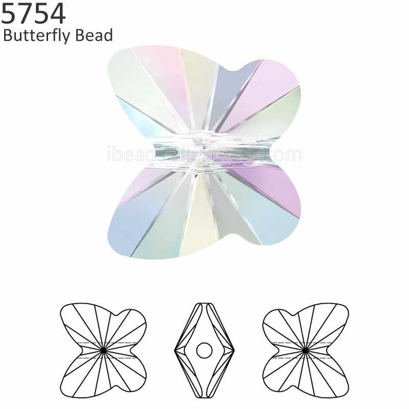 (1 piece) 100% Original crystal from Swarovski 5754 Butterfly Bead  rhinestone made in 15983118f700