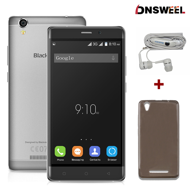 Free CASE-GIFT Blackview A8 smartphone 5.0 inch 1280x720 IPS HD Quad Core Android 5.1 Mobile Cell Phone 1GB RAM 8GB ROM 8MP 3G
