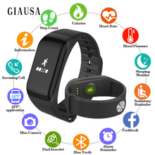 GIAUSA Smart Bracelet Podometer Band Heart Rate Monitor Pulsometer Watches Blood Pressure Measurement Pulse Watch