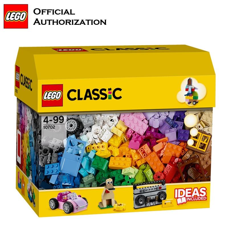 LEGO 583 pcs Klassieke Speelgoed Stapelen Blokken Doos Kinderen Speelgoed Educatief & Leren Lego Building Speelgoed Blocos De Construcao 10702 - 3