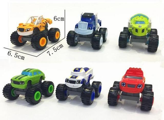Pcs Carro do Brinquedo das Crianças e Monsteren 6 Máquinas Coll Acrobacias Super Chama Crianças Caminhão Do Carro Presente Para as crianças Em aniversário Do Natal quente