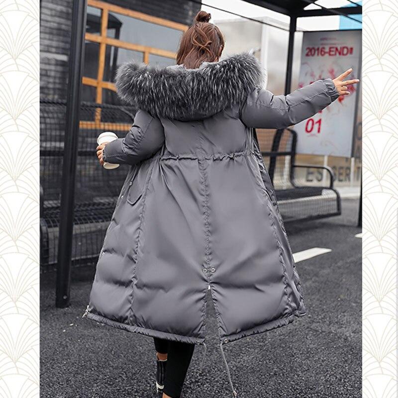 Coton Fourrure White Taille Femmes À Feminino Longues Vers Parkas gray 3xl Parka black Bas Plus caramel Épais pink Manteau Veste Le Chaqueta La D'hiver De Capuche Col Grand fOnqH0