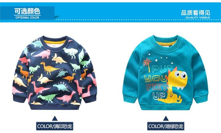 2018 Autumn Winter Warm 2-10 Years Old Children Long Sleeve Cartoon Animal Print School Baby Fleece Handsome Kids Boy Sweatshirt (7)