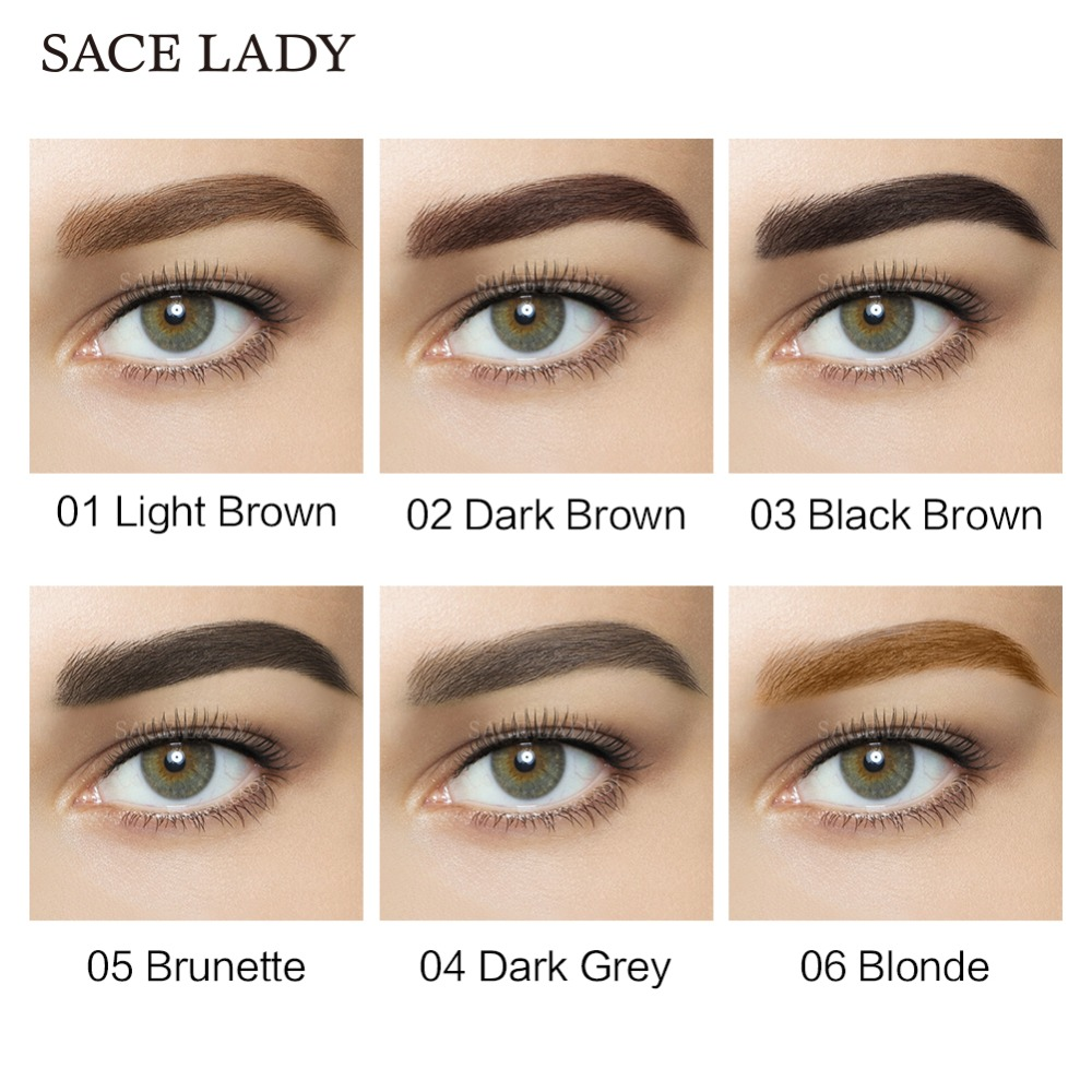 Sace Lady Waterproof Eyebrow Shadow Henna Makeup Enhancer Tint Brush