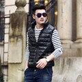 2016 New Male Slim Fit Ultra Light Coat Duck Down Vest Plus Size Original Design Men Thermal Vests Men Sleeveless Jacket A1488