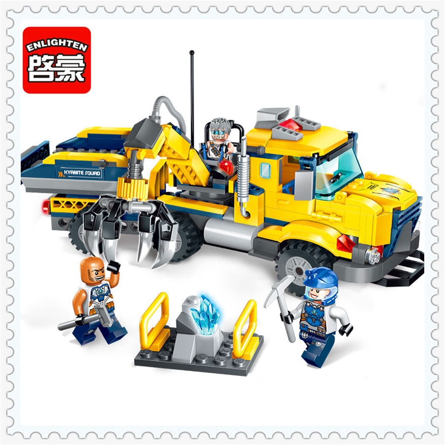 309Pcs Engineer Trailer Truck Collecting Car Model Building Block Toys ENLIGHTEN 2407 Figure Gift For Children Compatible Legoe decool 3117 city creator 3 in 1 vacation getaways model building blocks enlighten diy figure toys for children compatible legoe