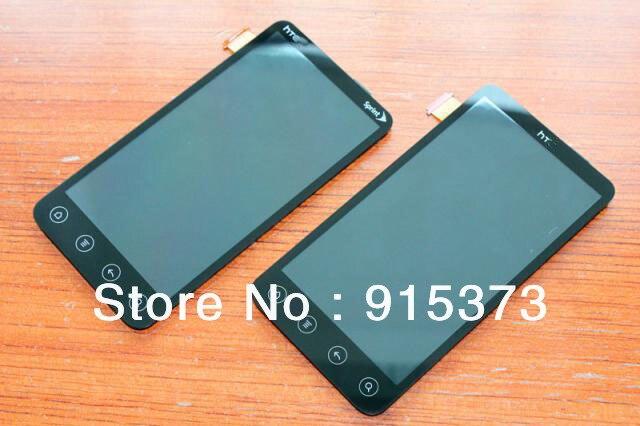 Para htc evo 3d g17 x515m display lcd completo assembly digitador toque de vidro da tela; frete grátis
