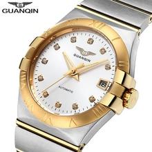 2018 メンズ腕時計トップブランドの高級時計男性自動ブランドサファイアステンレスゴールド機械式時計防水レロジオ Masculino