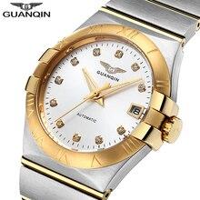 2018 גברים שעונים למעלה מותג יוקרה שעון גברים אוטומטי מותג ספיר נירוסטה זהב מכאני שעון עמיד למים Relogio Masculino