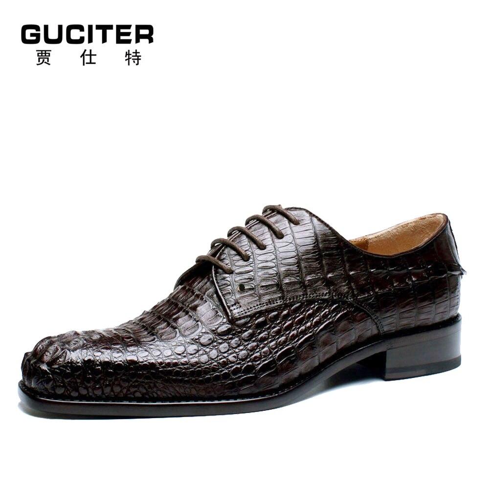 0afbd3b268a6a Véritable peau de crocodile en cuir pour hommes chaussures goodyear  chaussures faites à la main haut de gamme alligator hommes chaussures et  spécial peaux ...