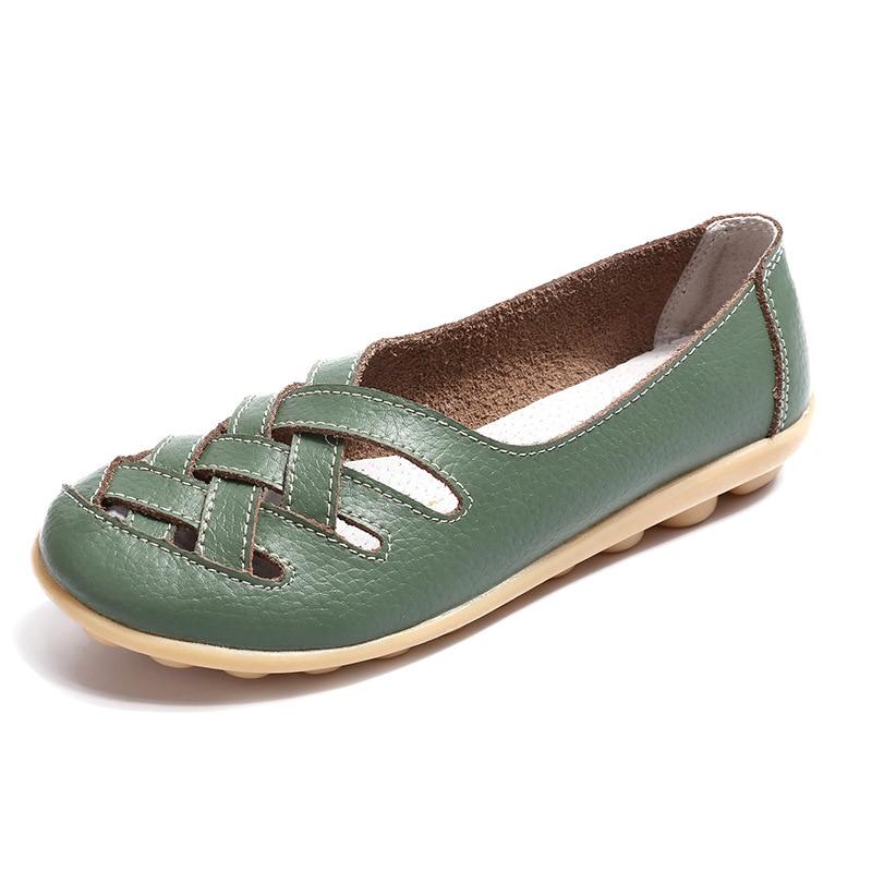 abda249537458 Femmes Chaussures En Cuir Plat de Superstar Big Taille 34 44 Oxford  Chaussures Femmes Mocassins 2017 Casual Chaussures D été Automne chaussures  dans ...