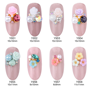 10pcs alloy 3d nail art rose f