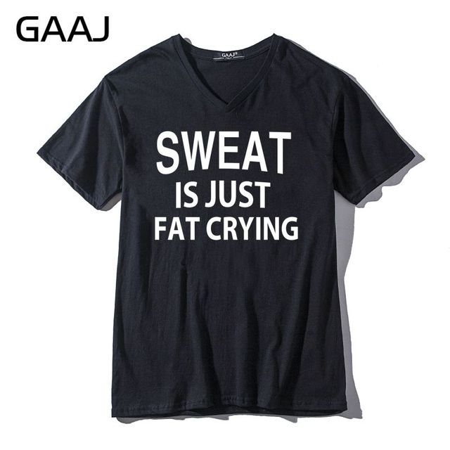 a61ffd16 sweat is just fat crying Men & Women Unisex T Shirts New V Neck Tees Funny