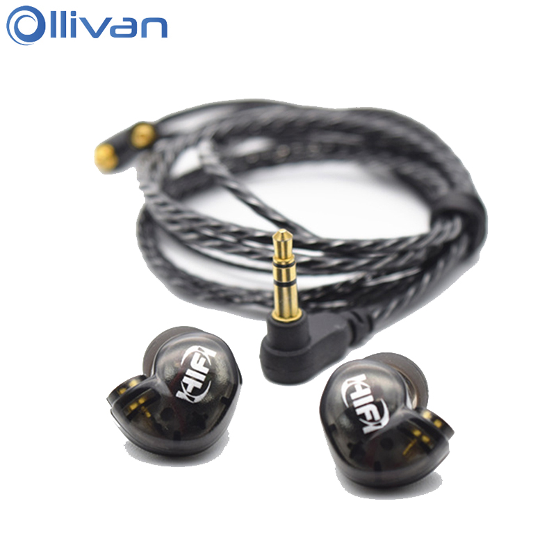 Ollivan HIFI A8 Earphone Dynamic Bass Earphones With MMCX Cable Magic Music Earbuds Fever Headsets For Android Windows Phone iOS 2017 new six dynamic bass ear hifi earbuds earphone for mobile phone universal yinjw p8 magic song