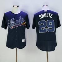 MLB Men S Atlanta Braves John Smoltz Blue Flex Base Jersey