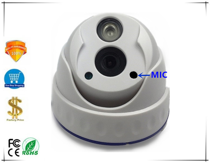 Sony IMX335 XM550 5 0MP H 265 2592 1944 IP Dome Camera Integrate MIC Plastic Low