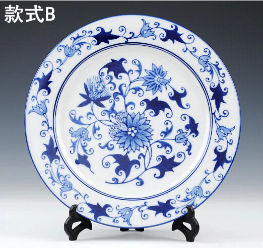 1 Piece Chinese Antique Porcelain Blue And White Decorative Plates For Hanging Plate Craft As Wall Decor-in Vases from Home \u0026 Garden on Aliexpress.com ...  sc 1 st  AliExpress.com & 1 Piece Chinese Antique Porcelain Blue And White Decorative Plates ...