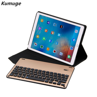 For New IPad Pro 10 5 PU Leather Case Cover Removable Aluminum Alloy Bluetooth Keyboard For