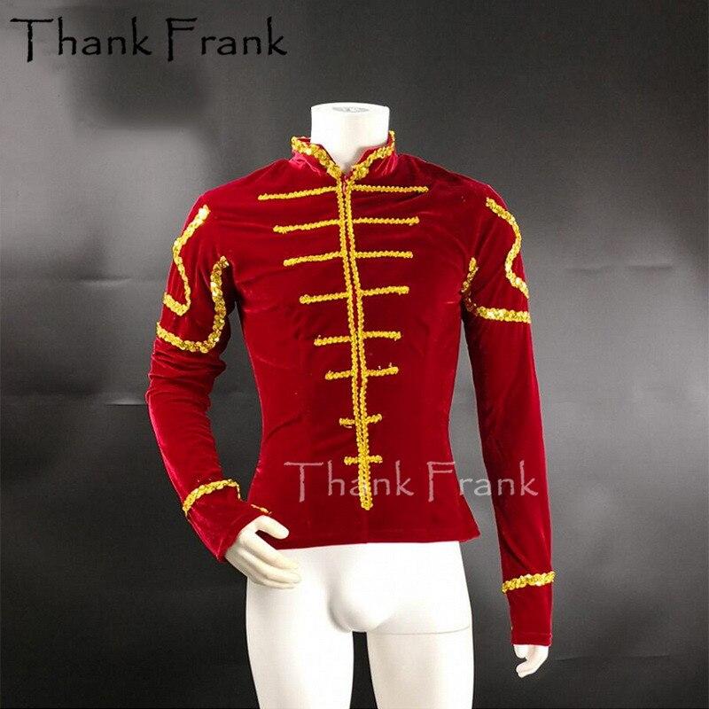 Man Processional Ballet Top Plus Size Aerobics Mens Tunic Ballet Cotumes Boys Outwear Classical Ballet Prince