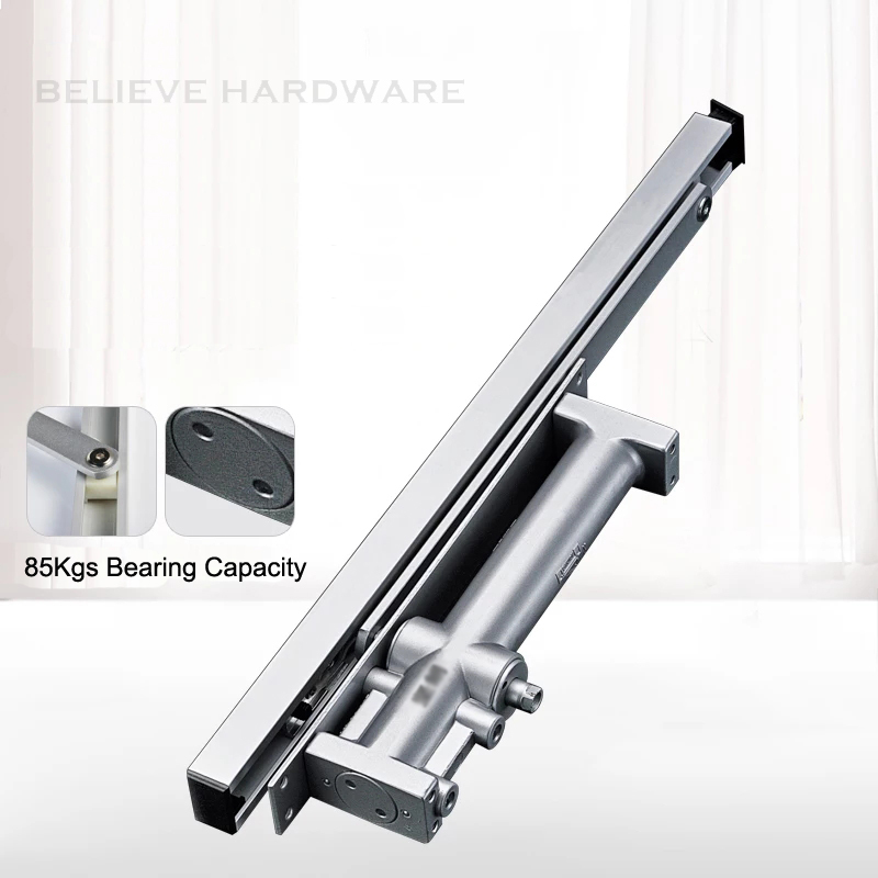 купить Concealed Hydraulic Buffered Door Closer Automatic Doors Closing Device Available For 85Kgs Wooden/Metal Doors WM02306 по цене 6799.07 рублей