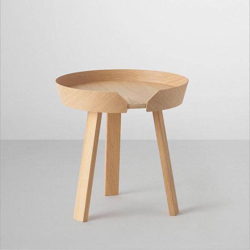 NOUVELLE Europe Du Nord petite table basse taille combinaison de simple solide café petite table ronde canapé bord plusieurs petit Huxing