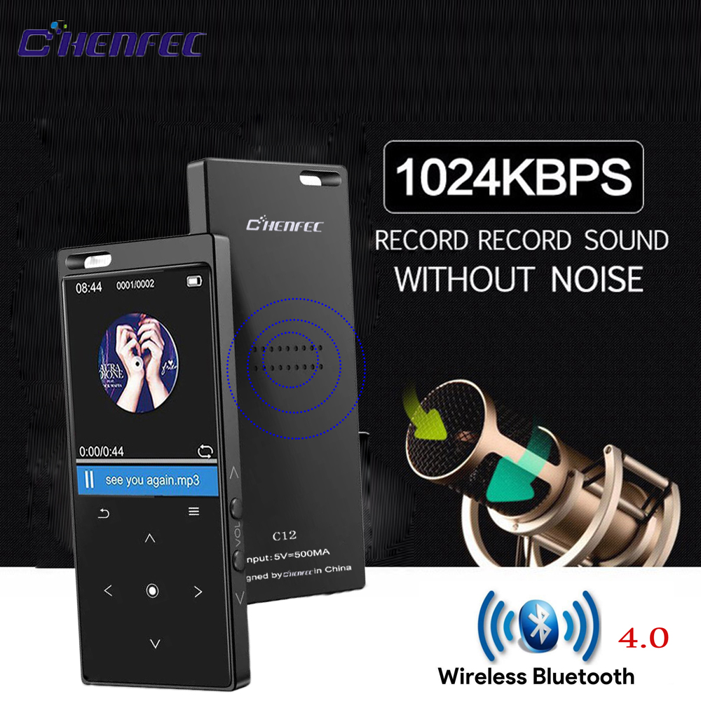 Portable metal Original Bluetooth CHENFEC C12 MP3 Player 8GB 1.8 Screen speake With mp3 music player Sport FM Radio E-Book Clock tivdio v 116 fm mw sw dsp shortwave transistor radio receiver multiband mp3 player sleep timer alarm clock f9206a