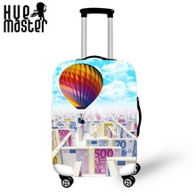 ФОТО creative design travel Spandex Cover for suitcase  Luggage Protector Clear Rain Cover Dustproof  cartoon pattern