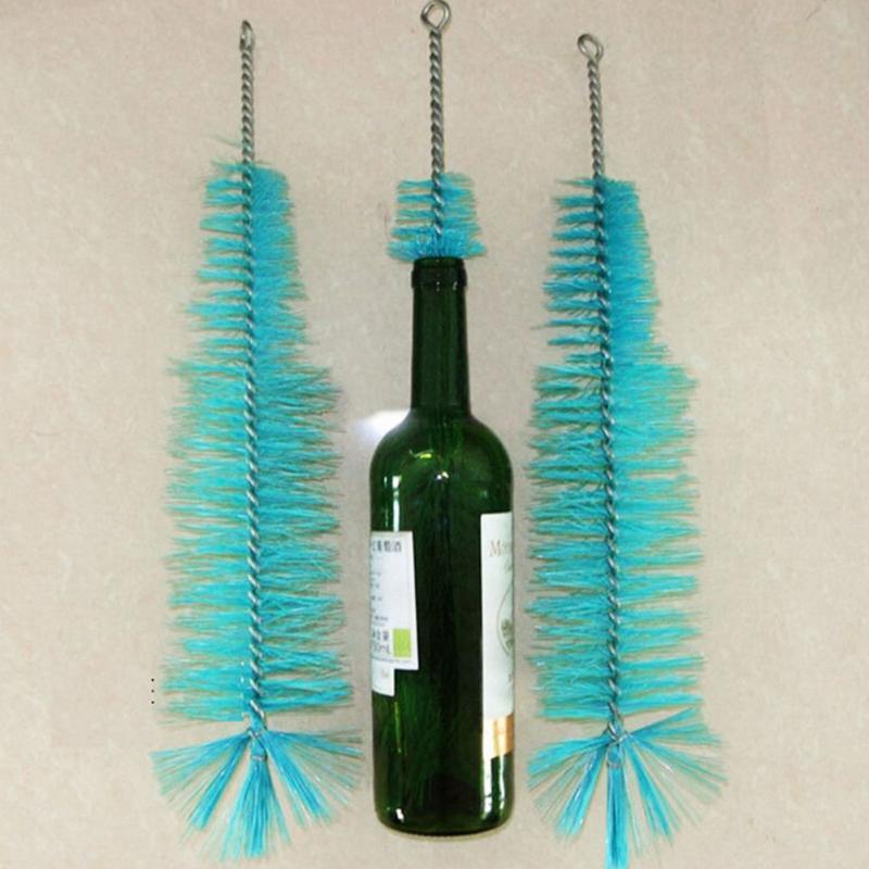 Новая нейлоновая щетка для чистки бутылок, для вина, пива, Домашнего Пива, трубка, носик, очиститель, кухонные чистящие инструменты