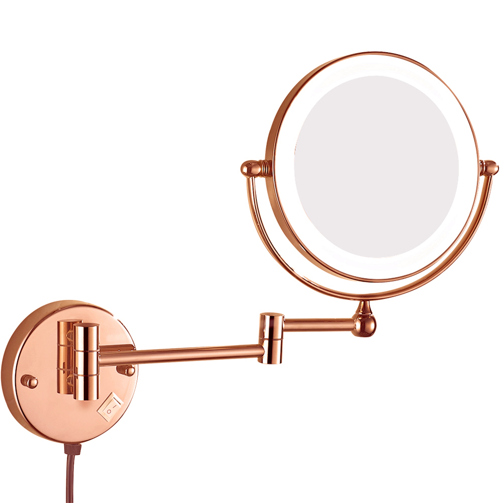 GuRun Menyala Pembesaran Dinding Kamar Mandi Rias Cermin Rias - Alat perawatan kulit