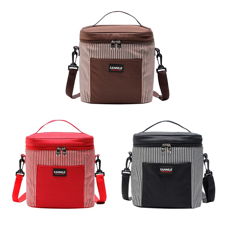 Light Portable Square Aluminum Foil Thermal Insulation Picnic Cooler Bag Food Lunch Box Fruit Fresh Ice Pack Handbag