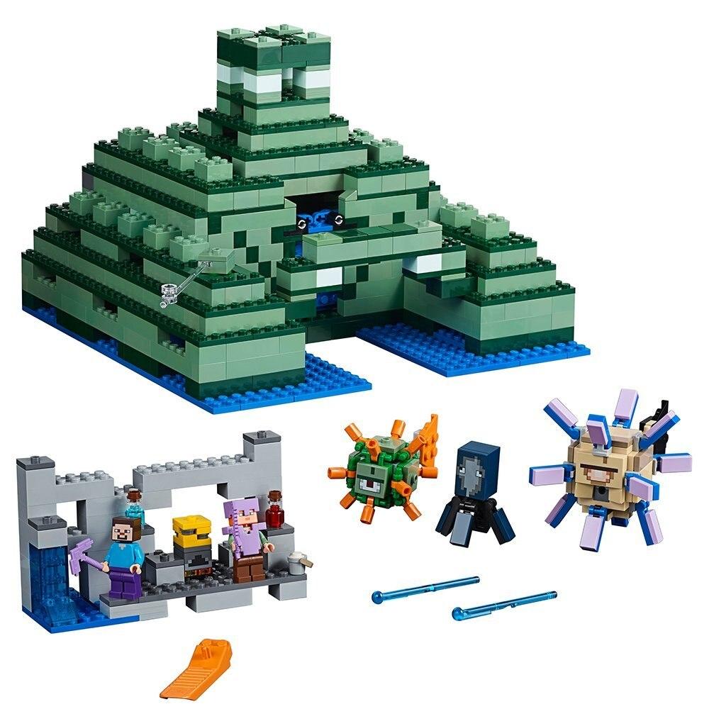 10734 L'océan Monument compatible avec 21136 Legoings Minecraft ensemble de blocs de Construction Créative Jouet 1134 pièces