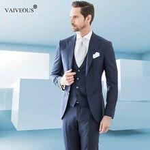 ab2efa24665 Mucielee дешевые мужской костюм Slim Fit Для мужчин s праздничная одежда  Для мужчин костюмы для выпускного Свадебные жениха Блей..