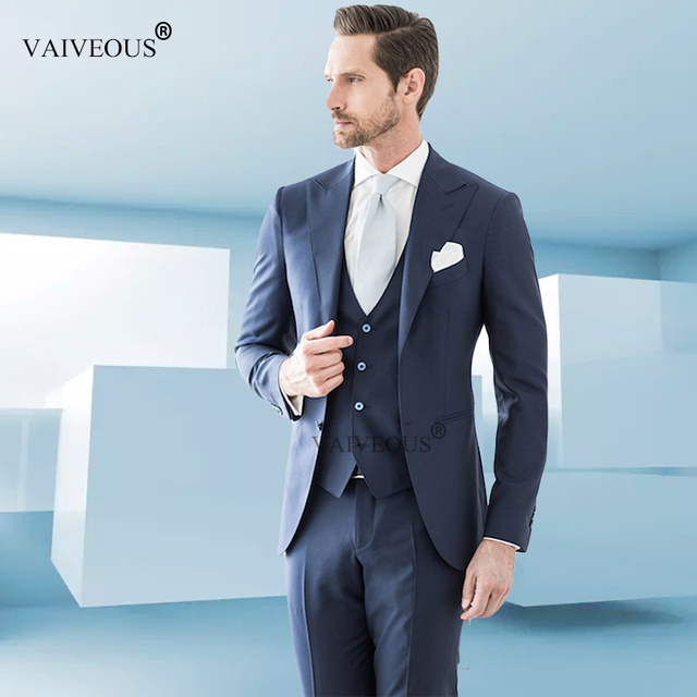 46d2dbcefe2ac1 Traje Masculino barato Mucielee ajustado para hombre ropa Formal para hombres  trajes de graduación boda novio