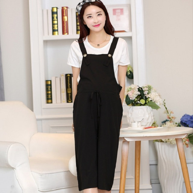 2016 summer women's suspender trousers T shirt and pants materntiy trousers pregnancy T shirts maternity summer clothing 16693